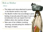role as mother islam