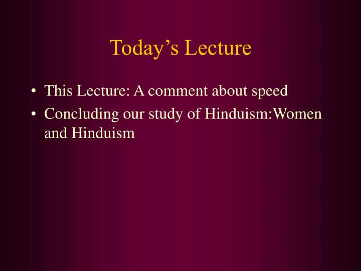 today s lecture n.