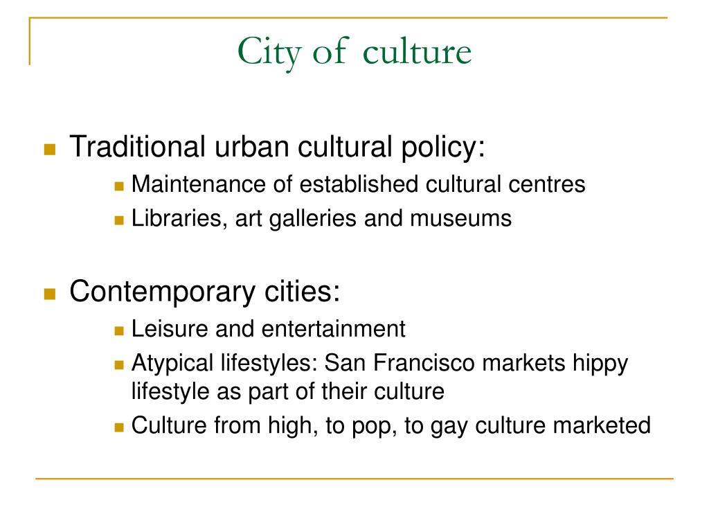 City of culture
