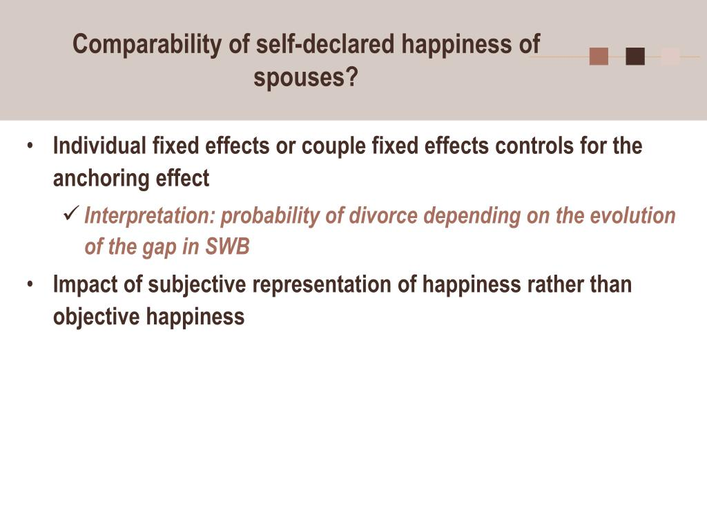 Comparability of self-declared happiness of spouses?