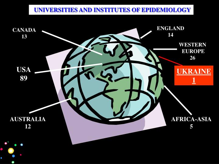 UNIVERSITIES AND INSTITUTES OF EPIDEMIOLOGY