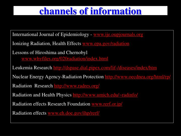 channels of information