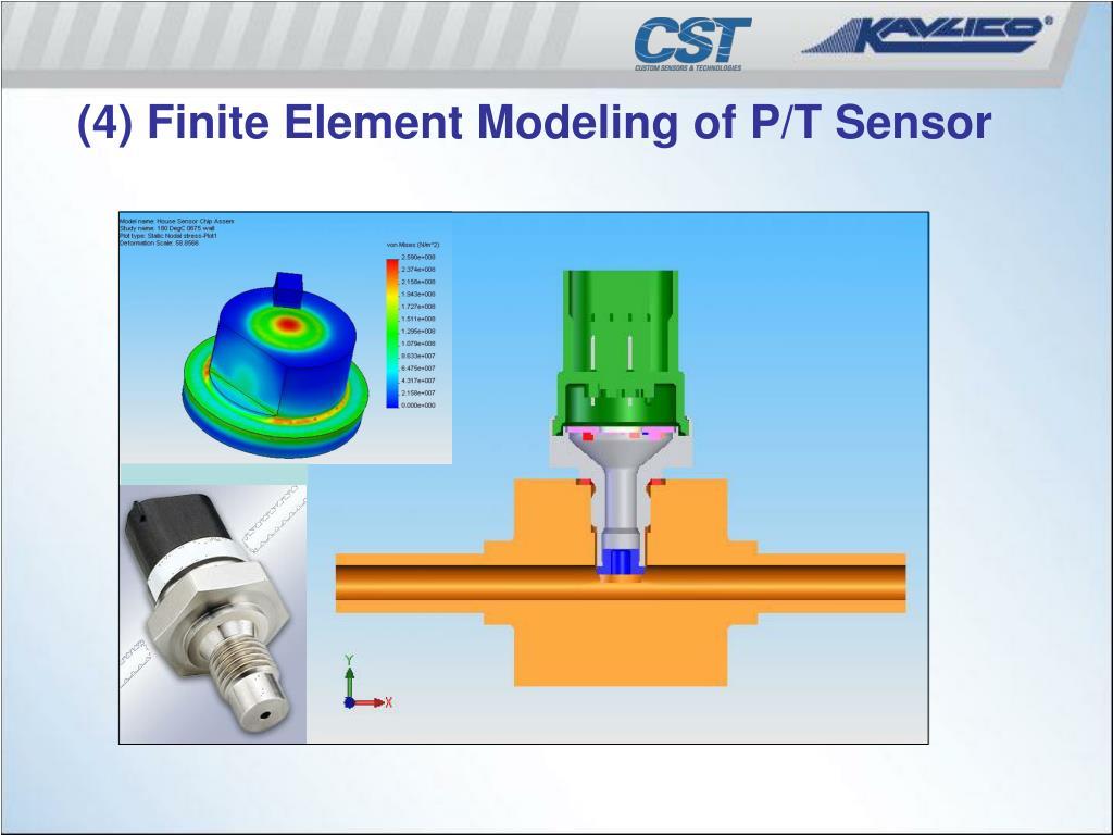 (4) Finite Element Modeling of P/T Sensor