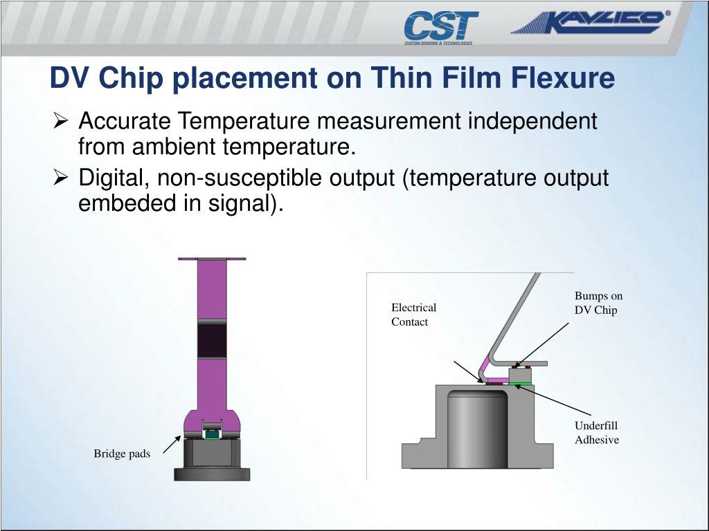 Bumps on DV Chip