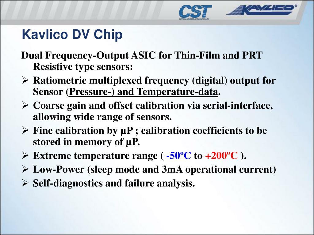 Kavlico DV Chip