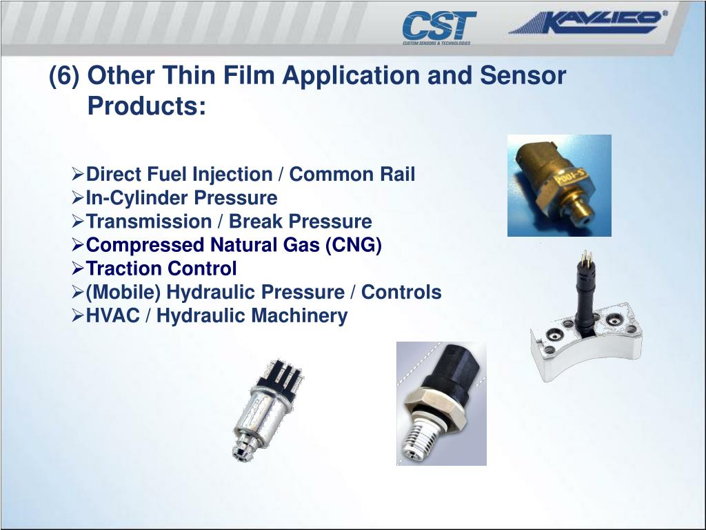 (6) Other Thin Film Application and Sensor Products: