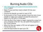 burning audio cds