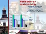 world order by tourist arriving