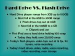 hard drive vs flash drive