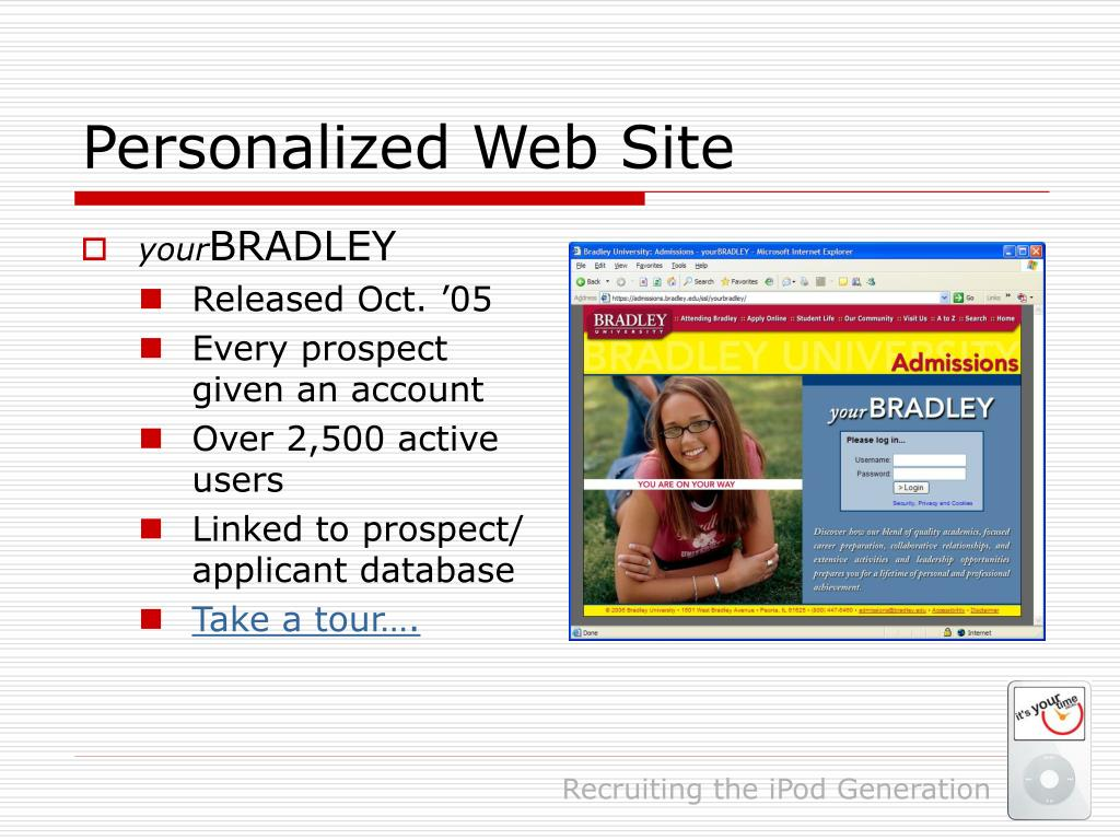 Personalized Web Site