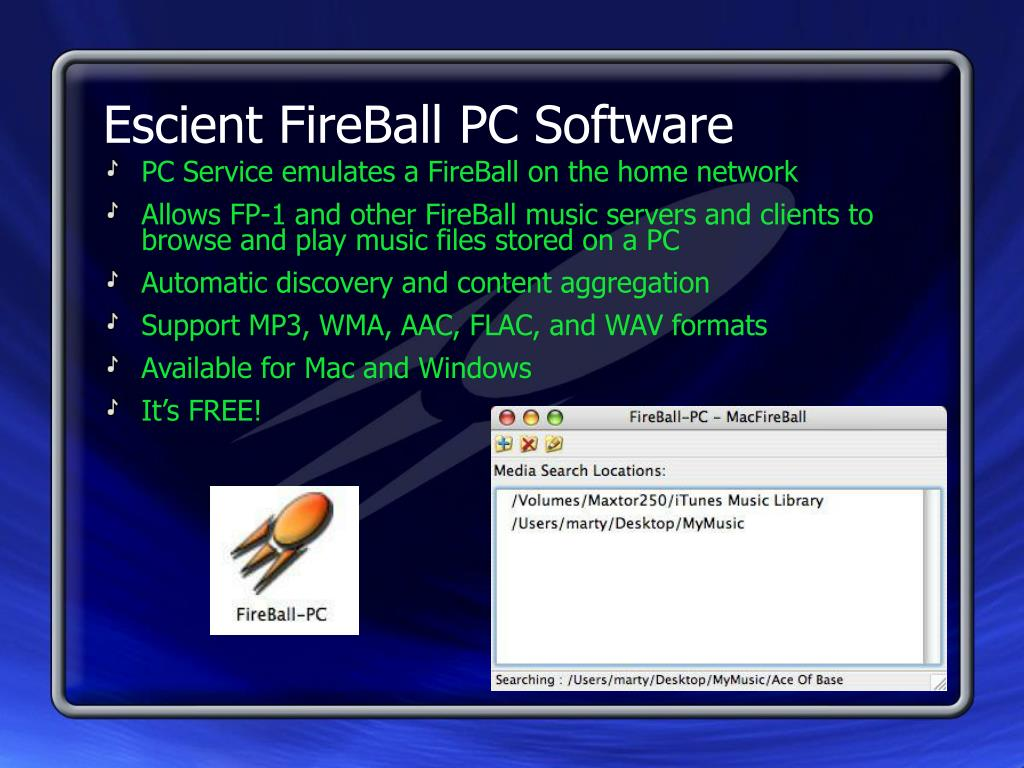 Escient FireBall PC Software