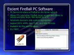 escient fireball pc software