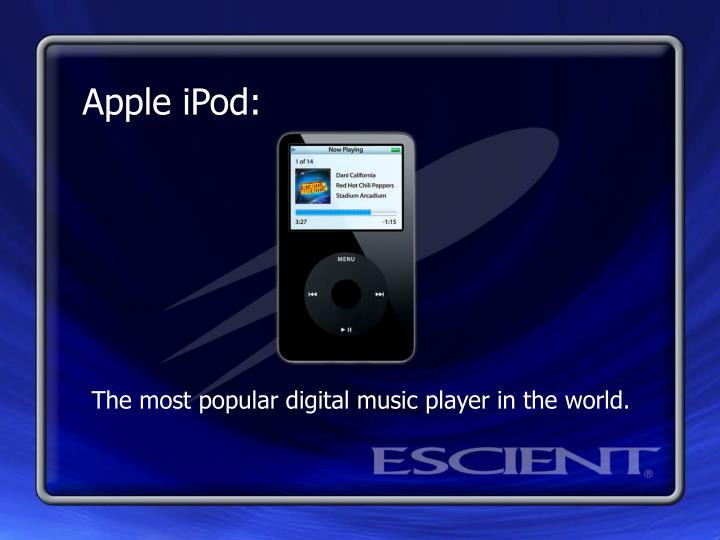 The most popular digital music player in the world.