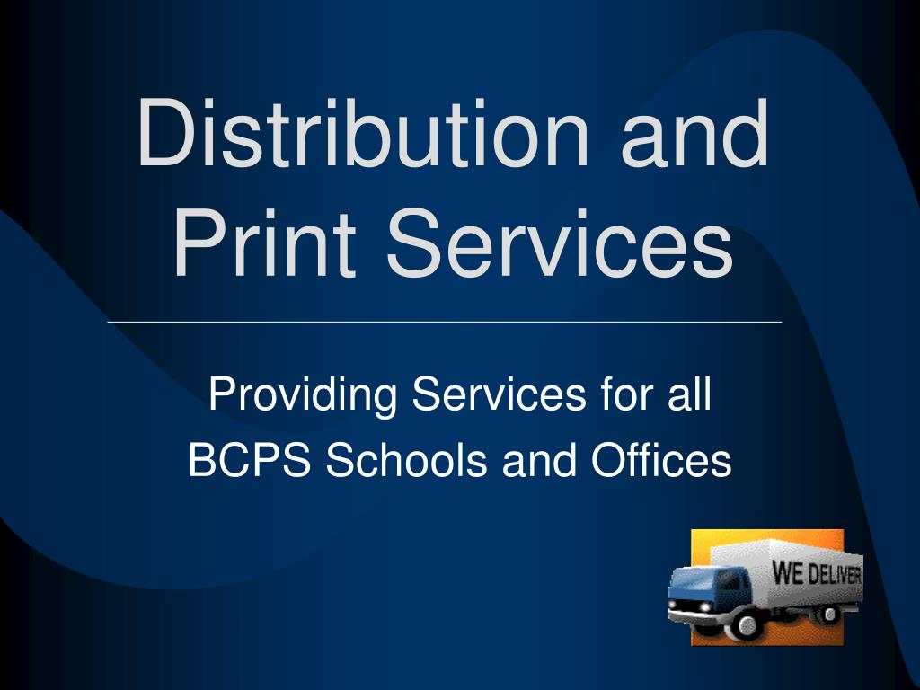 distribution and print services l.