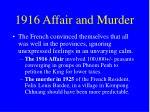 1916 affair and murder