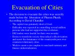 evacuation of cities