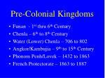 pre colonial kingdoms