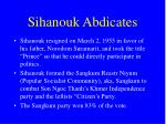 sihanouk abdicates