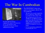 the war in cambodian