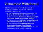 vietnamese withdrawal