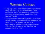 western contact