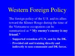 western foreign policy