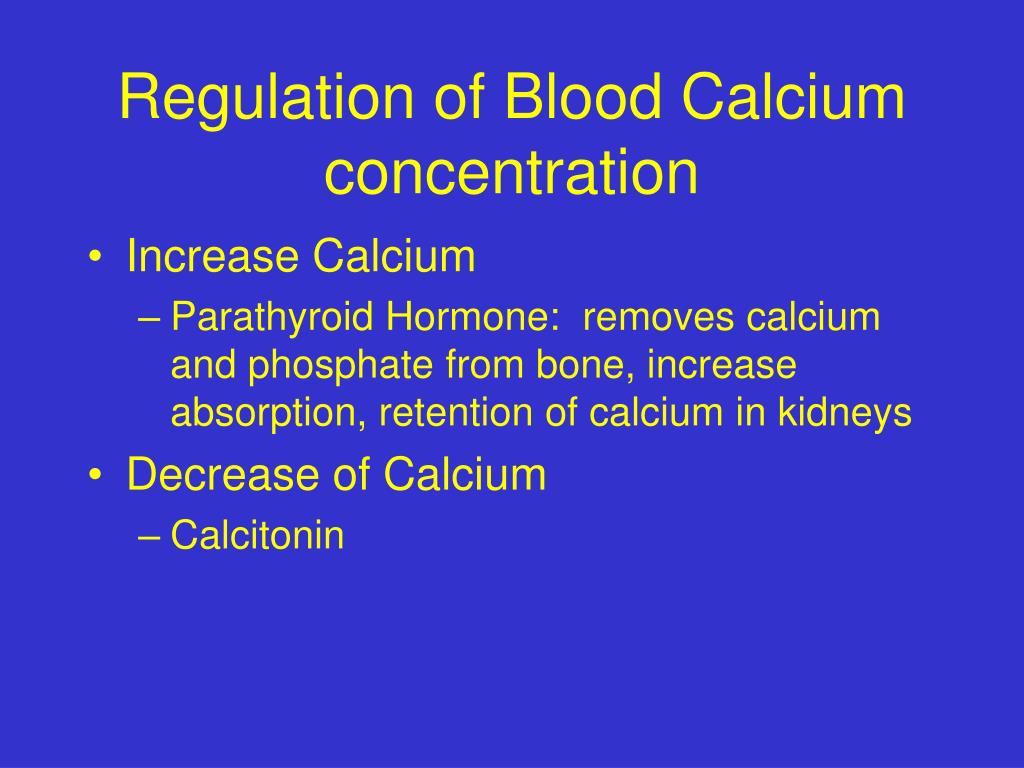 Regulation of Blood Calcium concentration