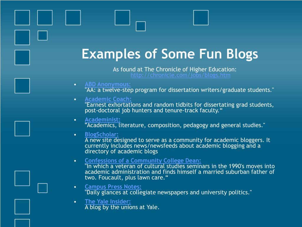 Examples of Some Fun Blogs