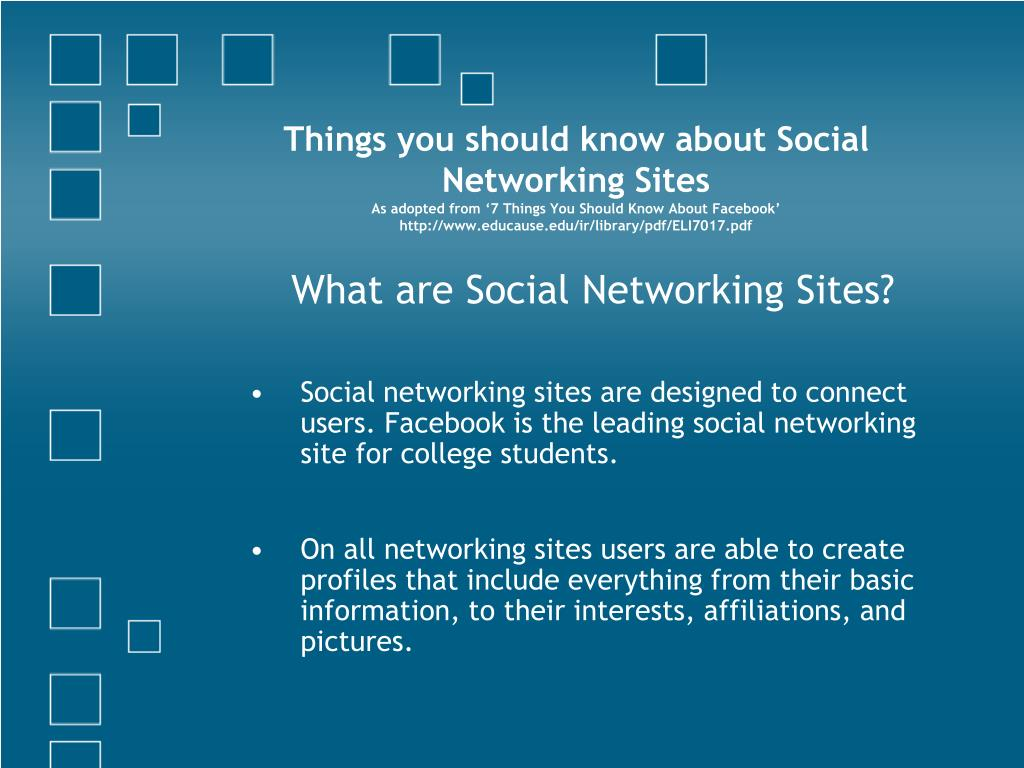 Things you should know about Social Networking Sites