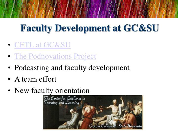 Faculty Development at GC&SU
