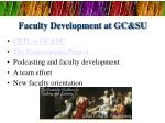 faculty development at gc su