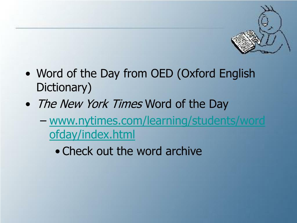 Word of the Day from OED (Oxford English Dictionary)