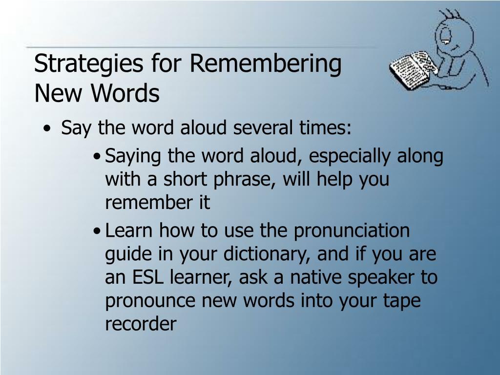 Strategies for Remembering