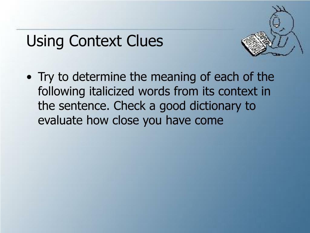 Using Context Clues