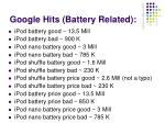 google hits battery related