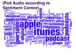 ipod audio according to sentiment context