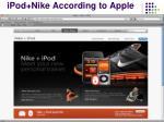 ipod nike according to apple