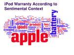 ipod warranty according to sentimental context