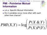 pmi pointwise mutual information