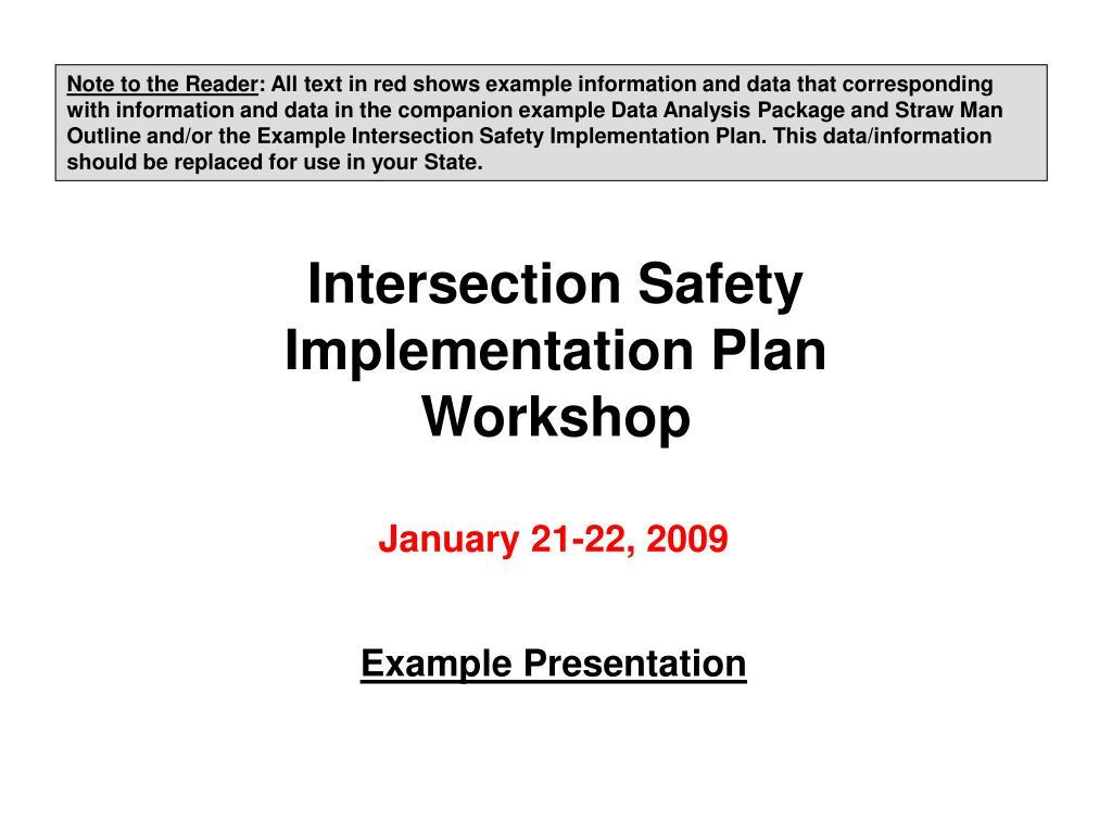 intersection safety implementation plan workshop l.