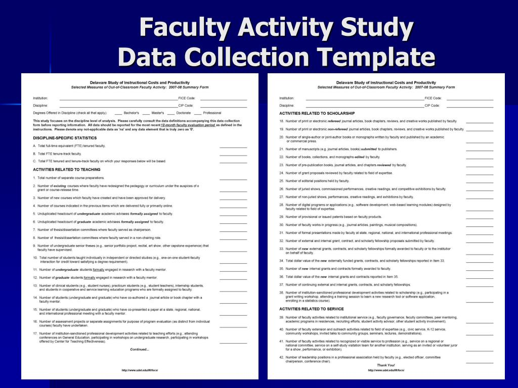 Faculty Activity Study