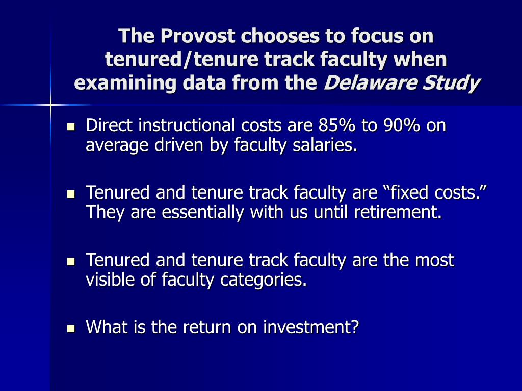 The Provost chooses to focus on tenured/tenure track faculty when examining data from the