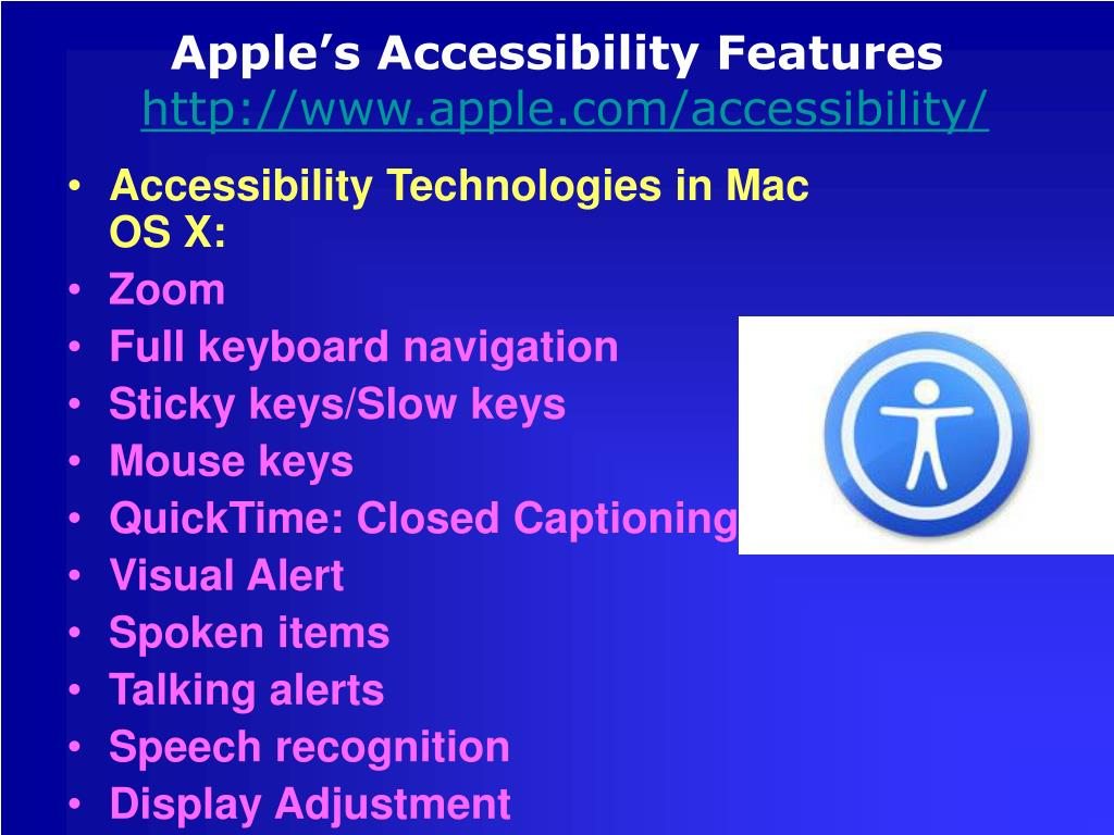 Apple's Accessibility Features