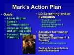 mark s action plan
