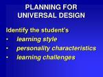 planning for universal design