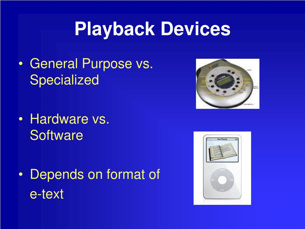 Playback Devices