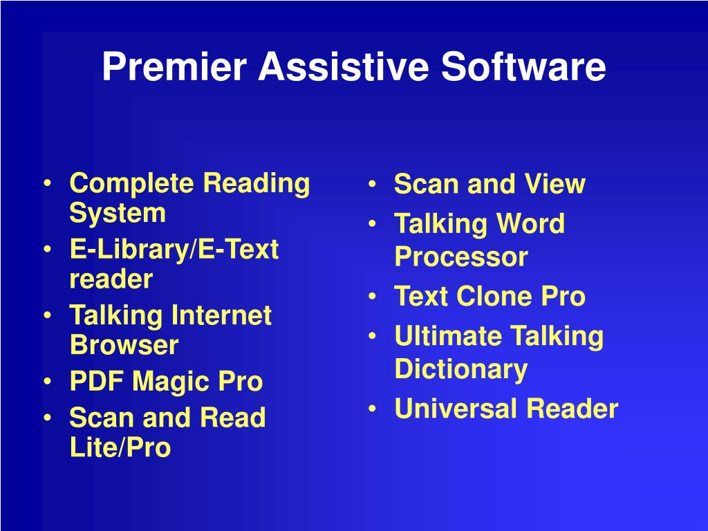 Complete Reading System