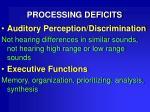 processing deficits17