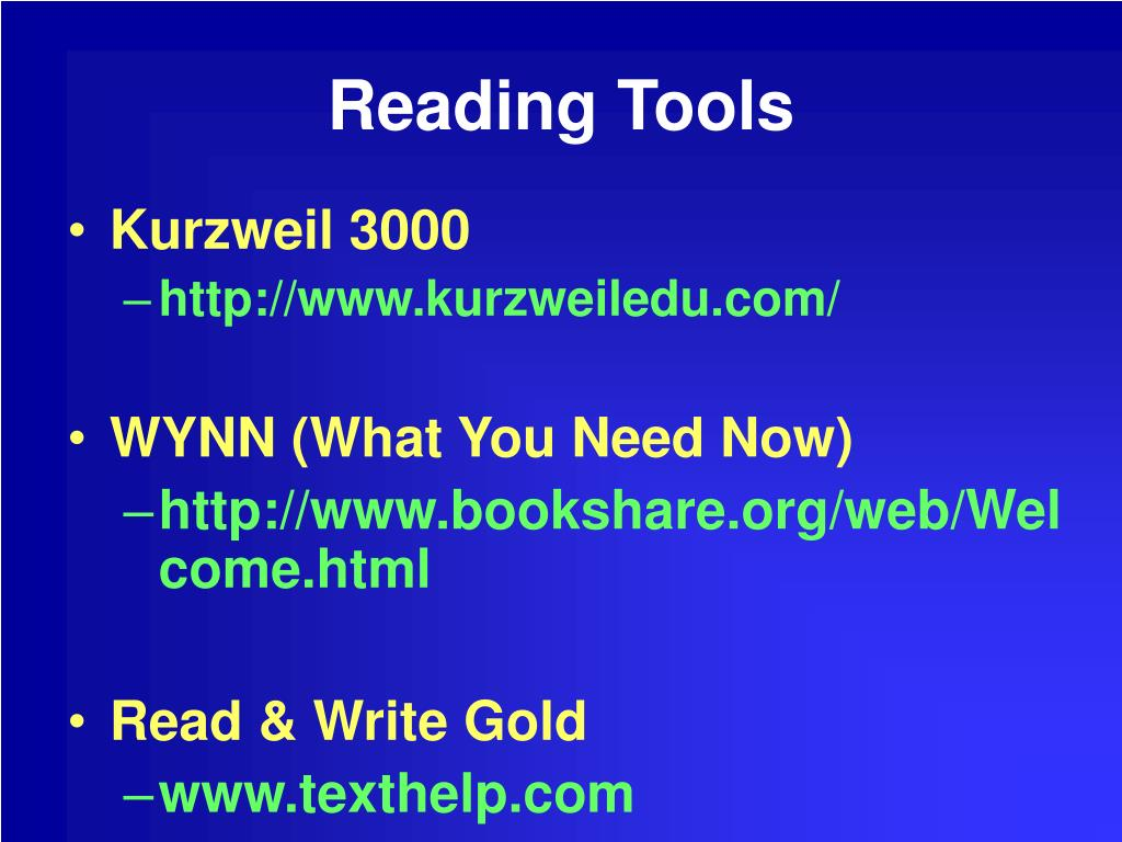 Reading Tools