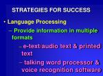 strategies for success29